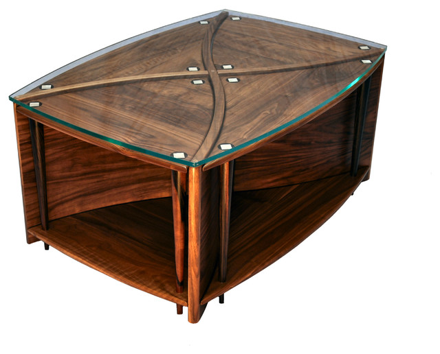 New modern nesting tables contemporary coffee tables for Modern nesting coffee tables