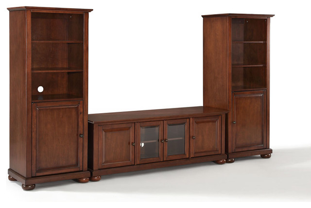 ... Low Profile TV Stand & Audio Piers in Vinta traditional-entertainment