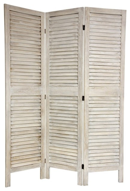 6 Ft Tall Classic Louvered Slat Venetian Room Divider