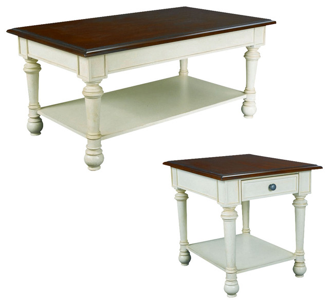 Hammary Promenade Rectangular Cocktail Table Set Traditional Coffee Table Sets By Beyond