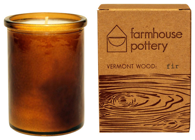 Vermont Wood Candle Fir Farmhouse Candles by Farmhouse Pottery