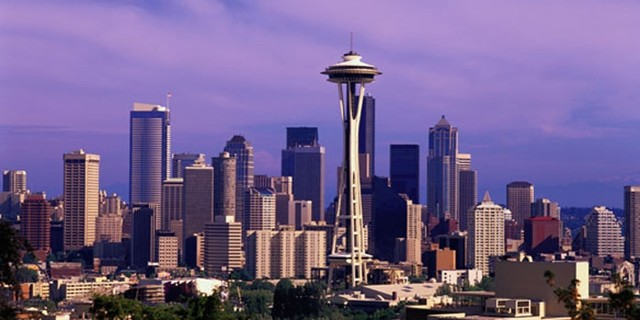 Seattle Skyline Photo Wall Mural Wallpaper By Artistic