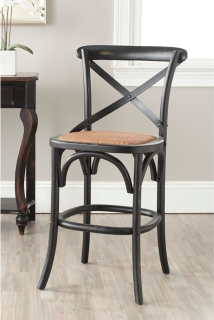 Safavieh Franklin Hickory Oak 24 4 Inch Counter Stool