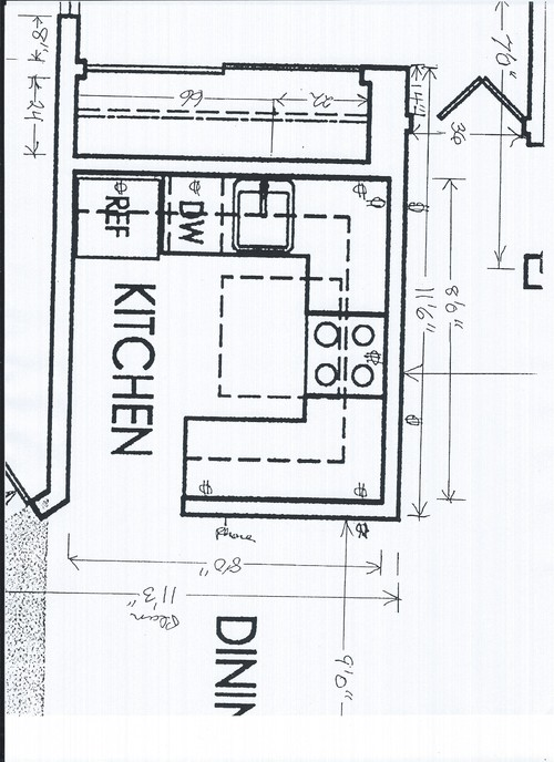 need help designing a 8x8 kitchen