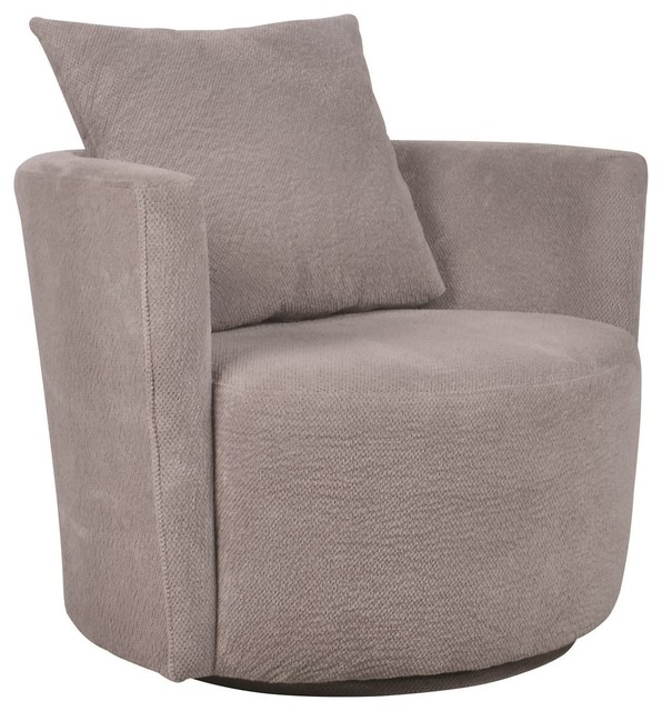 Nerissa Swivel Accent Chair Contemporary Armchairs And
