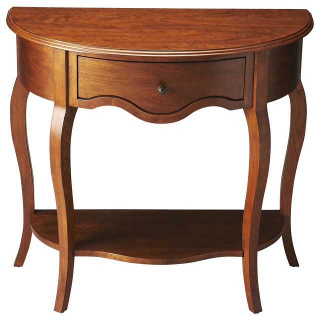 butler demilune console table