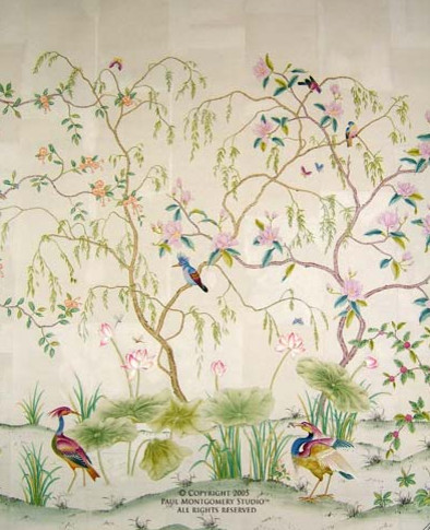 Toile and Oriental Wallpaper - Classic Patterns
