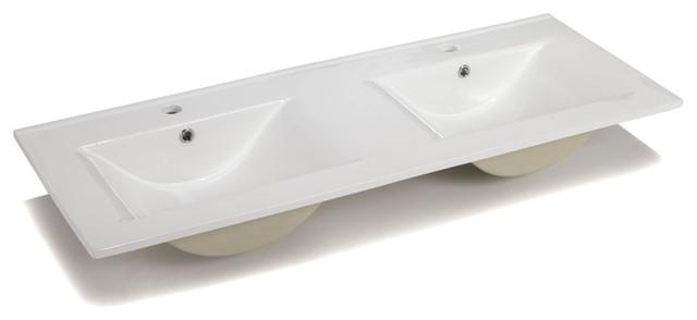 luxy vasque double en c ramique 120cm contemporain lavabos par alin a mobilier d co. Black Bedroom Furniture Sets. Home Design Ideas