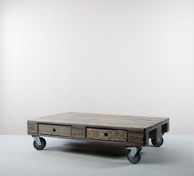 kimidori 1st couchtisch mit vier schubladen farbe graublau industrial coffee tables. Black Bedroom Furniture Sets. Home Design Ideas