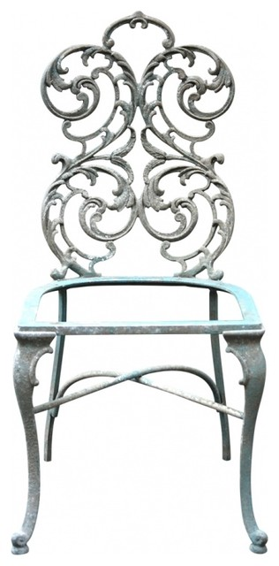 Victorian wrought iron chairs eclectic living room for Wrought iron living room furniture
