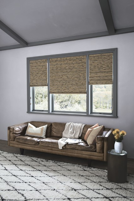 Smith noble natural woven waterfall shades for Smith and noble shades