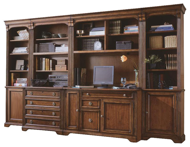 Hooker Furniture Brookhaven Door Bookcase Right Traditional Bookcases By Seldens Furniture