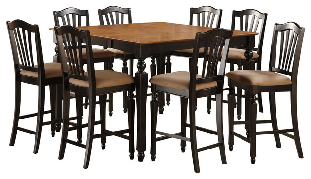 square counter height table with 4 chairs traditional indoor