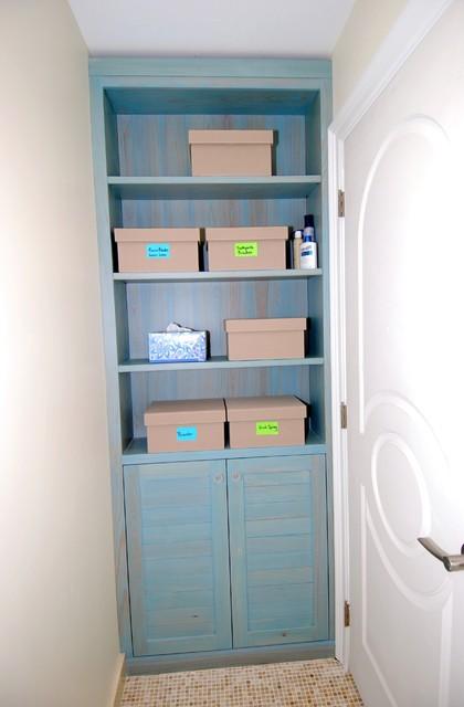 Master Bath Beach Style Bathroom Cabinets And Shelves