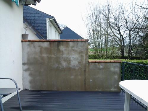 Amenagement mur terrasse