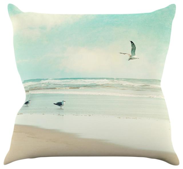 Modern Beach Pillow : Sylvia Cook