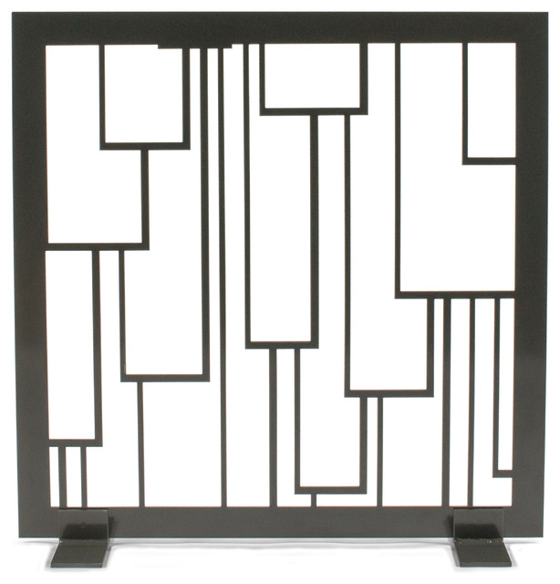 Cascade fireplace screen modern fireplace screens by revamp panels - Choosing the right contemporary fireplace screens ...