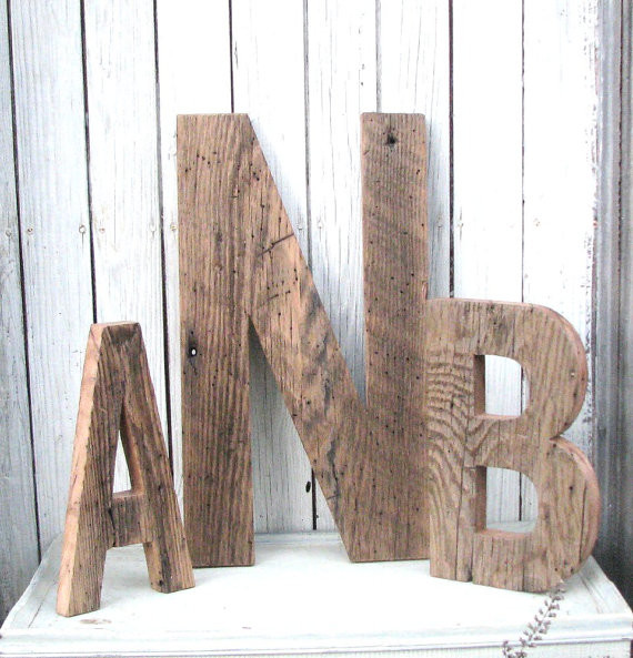 barn wood letters by second nature woodwork contemporary wall letters