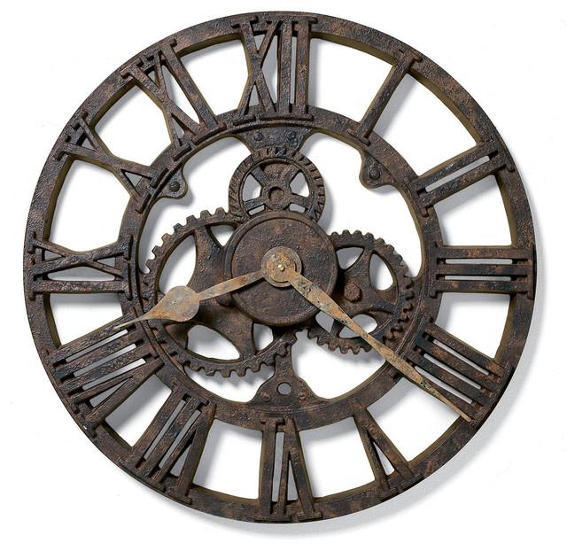 Howard Miller Allentown Clock - Industrial - Wall Clocks - by Howard Miller