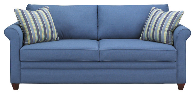 Denver Sofa Ranger Twill Blue Sofas By Sleepers In