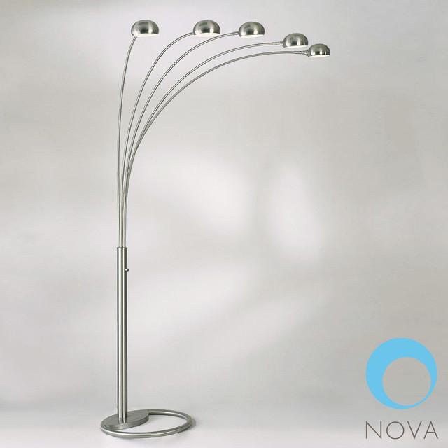 Mushroom 5 Light Arc Floor Lamp 4231RX Nova Modern Floor Lamps