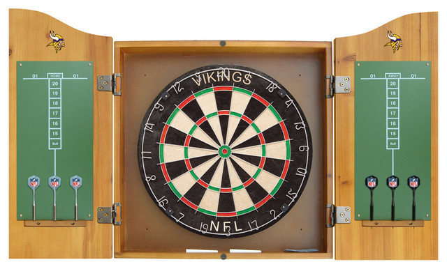 ... Vikings Dart Board and Cabinet - Darts And Dartboards - by Team Sports