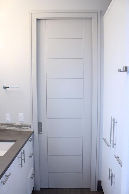 Modern pocket door contemporary interior doors - Modern pocket doors interior ...