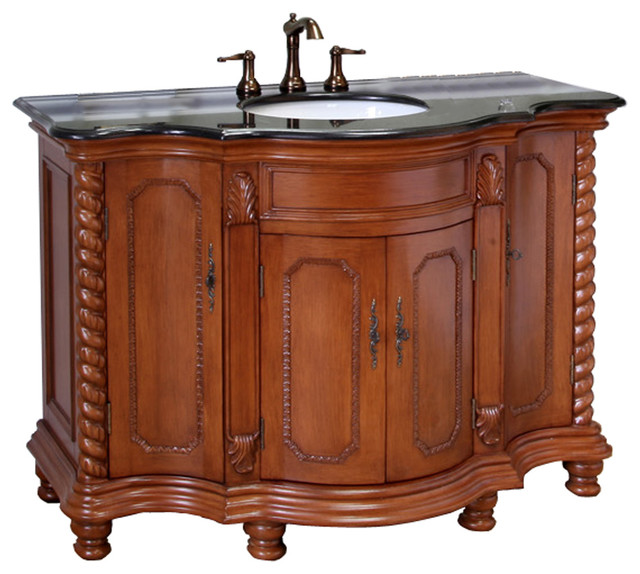 Simple  55 Wooden Bathroom Vanity In Light Walnut Color From Bathroom Vanity