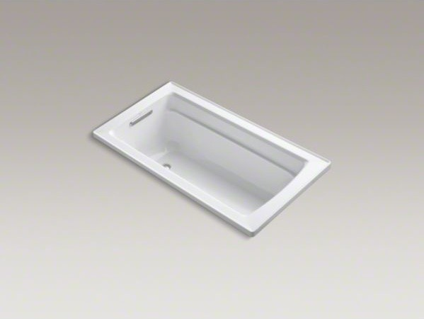 kohler archer r 60 x 32 drop in vibracoustic r bath with bask t