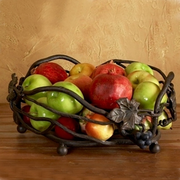 Iron Fruit Basket Eclectic Fruit Bowls And Baskets