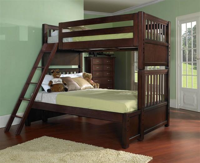 Samuel lawrence bridgeport twin over twin bunk bed 2225 730 731 732 traditional bunk for Salt lake city bedroom furniture