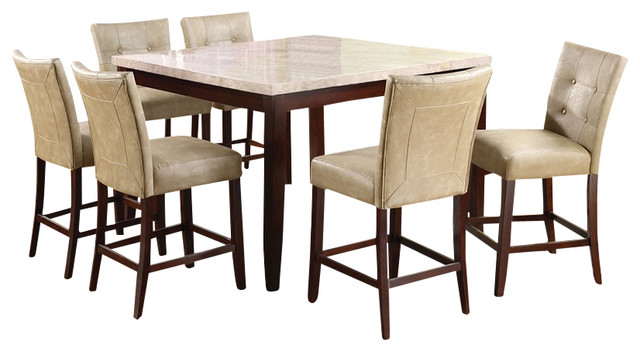 Counter Height Marble Dining Table : All Products / Dining / Kitchen & Dining Furniture / Dining Sets