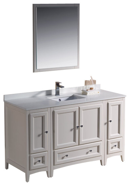 oxford antique white traditional bathroom vanity with 2