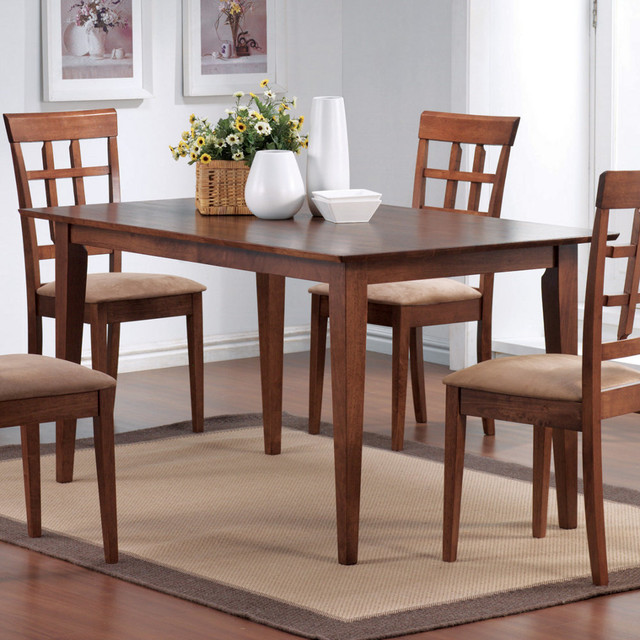 Match Collection Walnut Dining Table In Walnut Modern Dining Tables