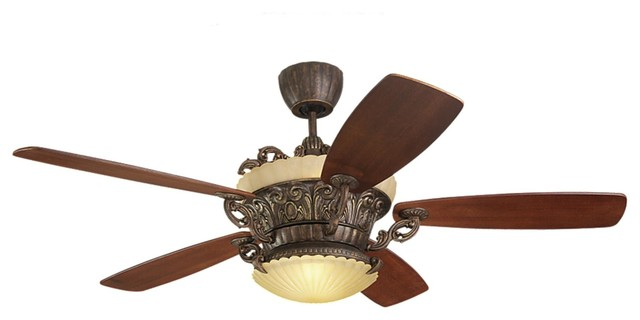 monte carlo fans ceiling fan without light in tuscan bronze finish light kit included. Black Bedroom Furniture Sets. Home Design Ideas