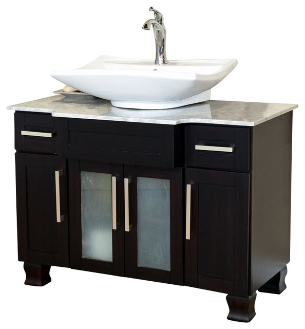 40 Inch Single Sink Vanity Dark Mahogany Modern