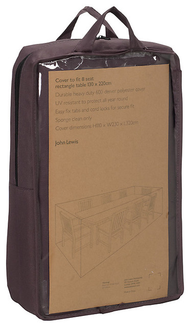 john lewis outdoor 8 seat rectangular table cover garden With patio furniture covers john lewis