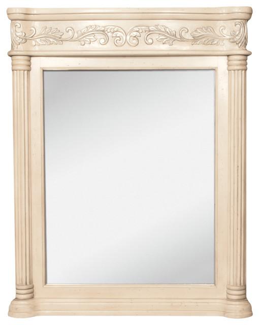 Antique ornate jeffrey alexander mirror 33 11 16quotx3 1 2quot x for Tropical bathroom mirrors