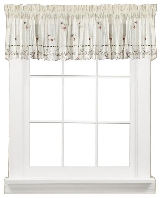 Live Laugh Love Kitchen Curtain, Valance