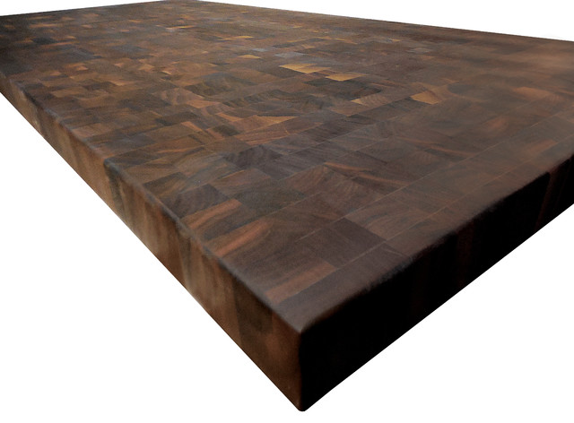 End Grain Walnut Butcher Block Countertop Farmhouse