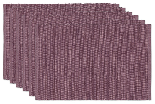Plum Tonal Placemats Set Of 6 Rustic Placemats By