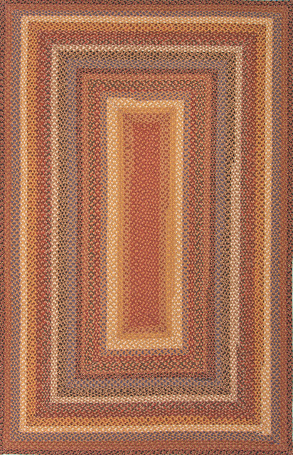 Braided Solid Pattern Cotton Polyester Red Yellow Area Rug 1 8x2 6 Far