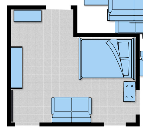 Need help with an l shaped basement bedroom furniture for Home design 9358