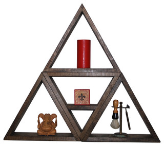Triangle Shelf Set, Dark Espresso