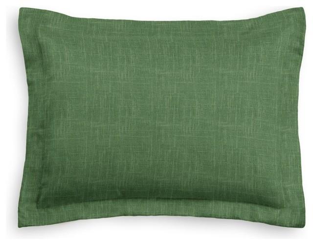 Dark Green Linen Sham Pillow Cover Modern Pillowcases