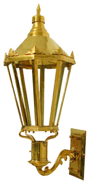 Wall Mount Propane Lamp : Grande Dame Lantern Brass Cast Gas Lantern, Polished Brass, Wall Mount, Propane - Victorian ...