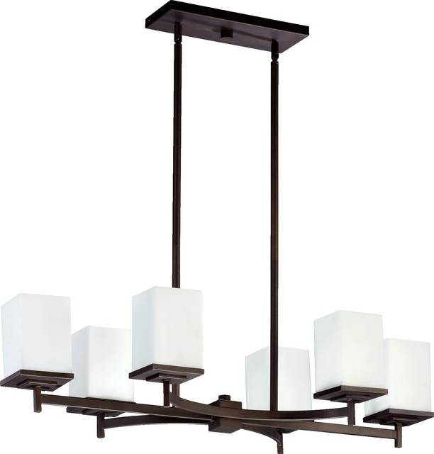 Quorum lighting delta modern contemporary kitchen island for Modern kitchen table lighting