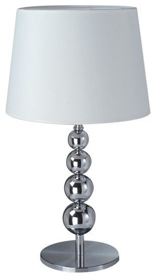 decorated metal base fabric shade modern table lamp modern table lamps. Black Bedroom Furniture Sets. Home Design Ideas