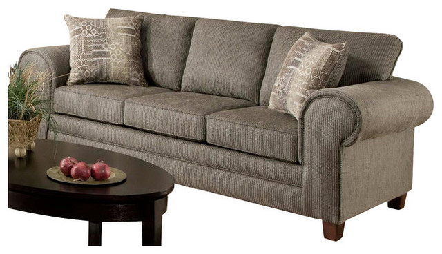 Traditional Sofa Pillows : Camden Sofa with 2-Pillows - Traditional - Sleeper Sofas - by ShopLadder