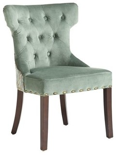 Hourglass Dining Chair Smoke Blue Damask Contemporary Dining Chairs Ot